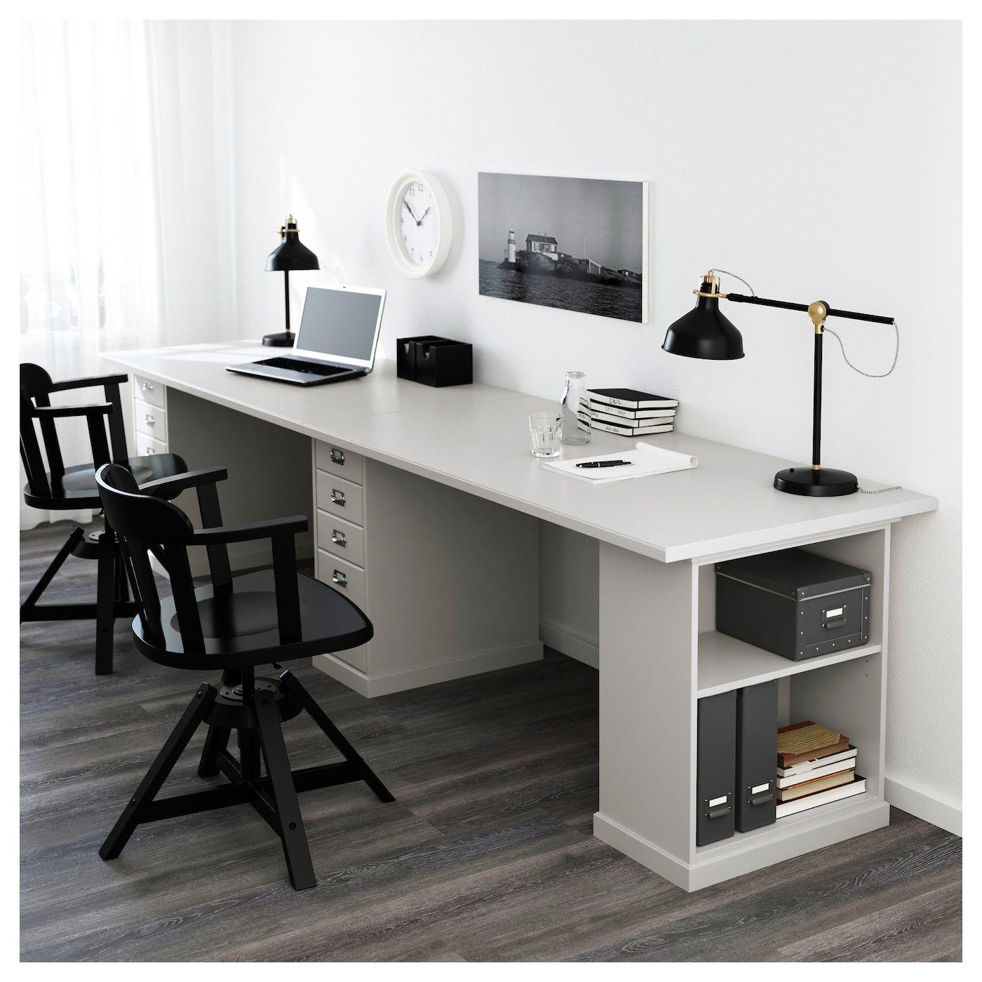 IKEA KLIMPEN Gray Light Gray Table