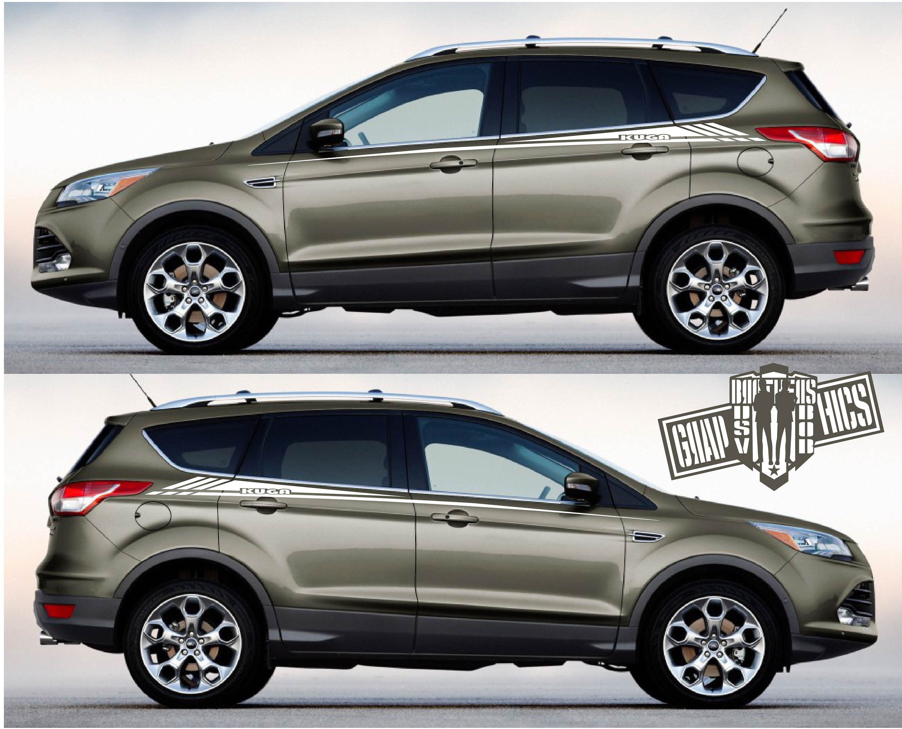 Ford Kuga Pair Of Sport Side Stripes Decal Sticker Vinyl2 Etsy