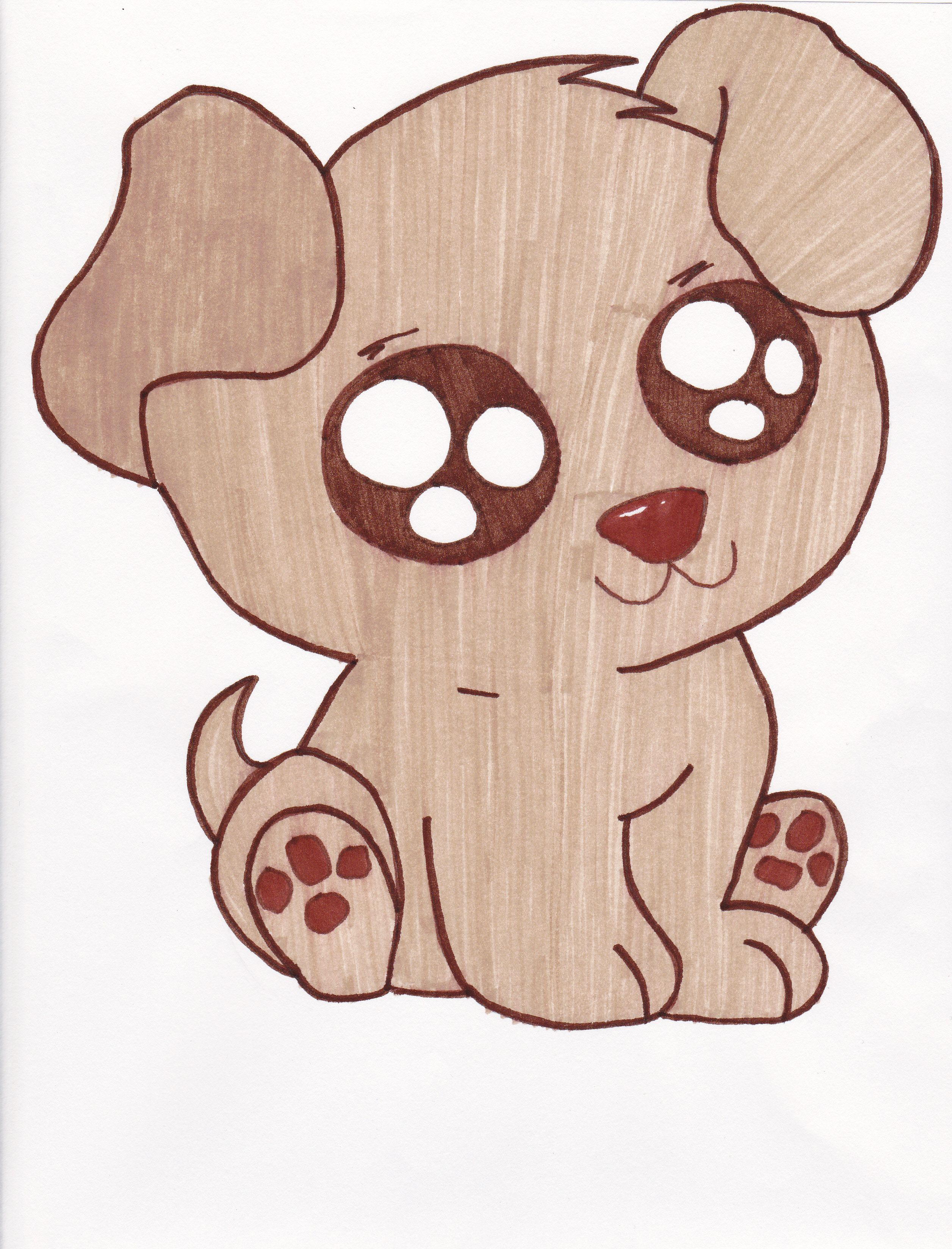 A Cute Puppy Drawing by AnnaR Dibujos bonitos, Dibujos