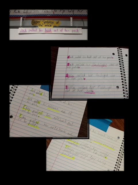 First Grade Wow Super Sentences Mentor Sentences Sentence