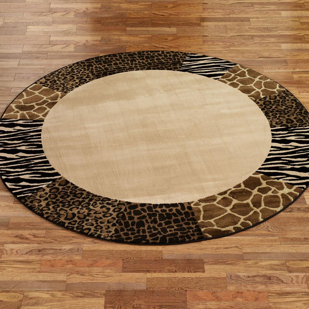 Round Leopard Print Rug | Rugs | Pinterest | Rounding