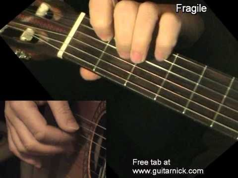 Fragile Fingerstyle Guitar Lesson Guitarnick Playing Guitar