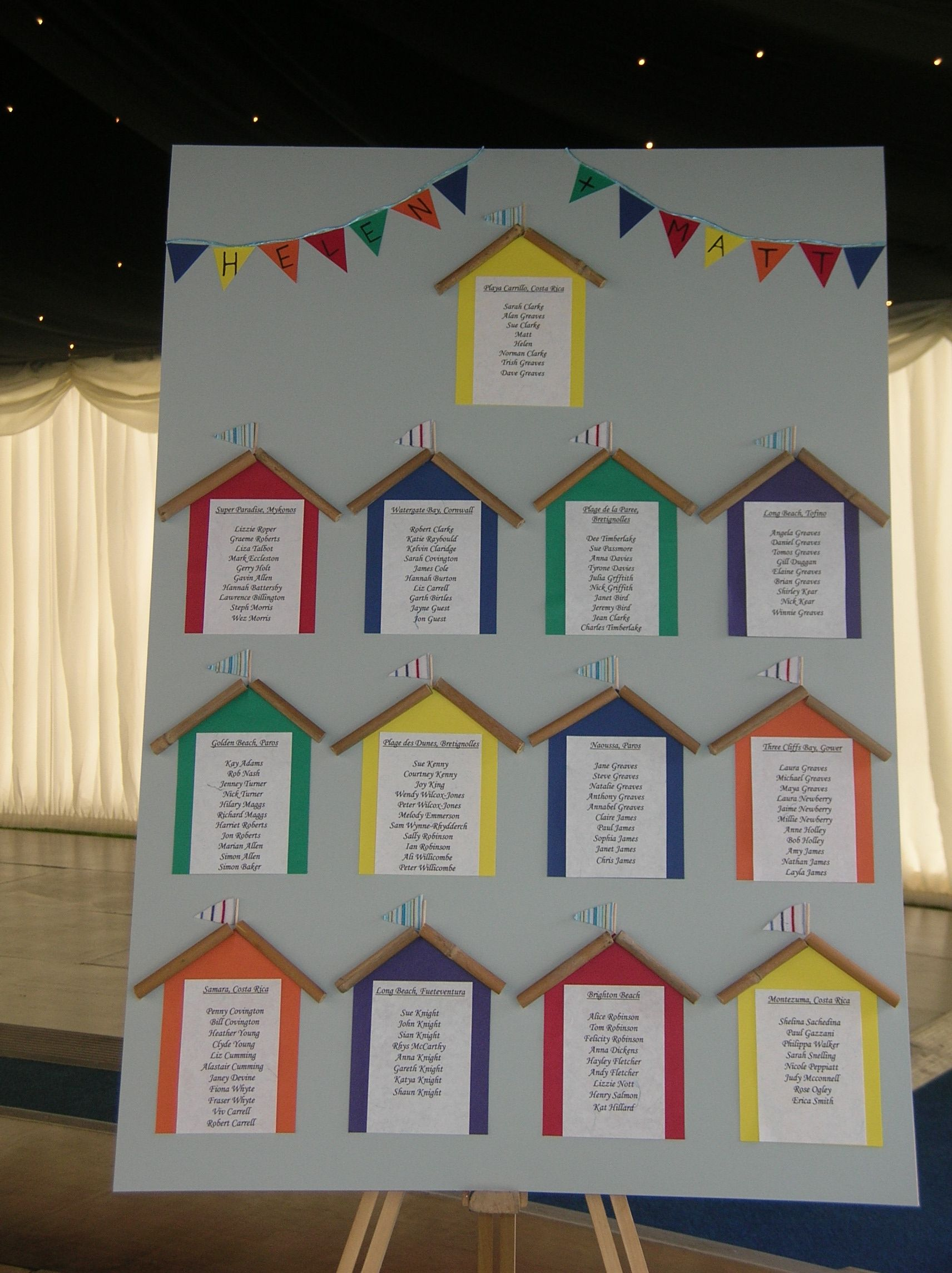 Beach hut themes table plan wedding table plans etc pinterest beach hut themes table plan beach themed weddingsseaside junglespirit Image collections