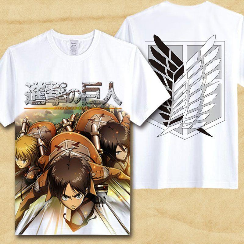 Maglietta Anime 3D Shingeki No Kyojin Scout Regiment Levi/·Ackerman Cosplay Moda T Shirt Manica Corta Tee Maglia Shirt Camicia Camicetta Tops LOOVEE Maglietta Attack on Titan per Uomo Donna