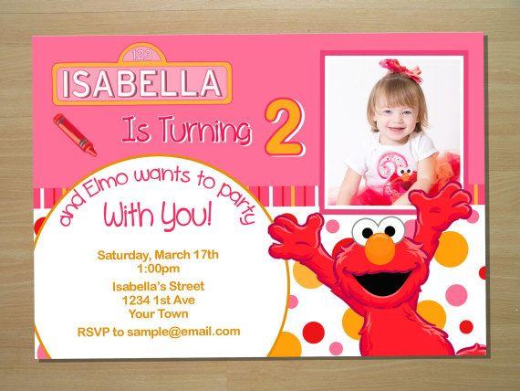Handmade Elmo Invitations