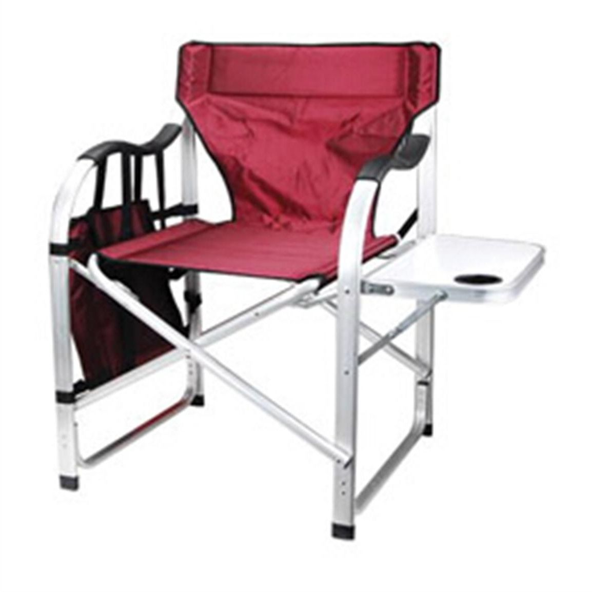 Maccabee Folding Directors Chair Camping Chairs Burgundy