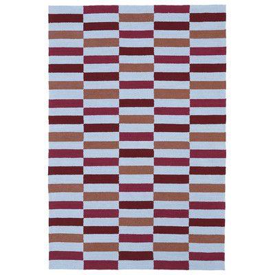 """Varick Gallery Staple Hill Cranberry Indoor/Outdoor Rug Rug Size: 7'6"""" x 9'"""
