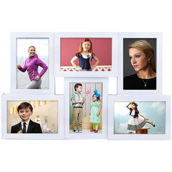 Azzure Home White Six-Photo Collage Frame ($18) ❤ liked on Polyvore ...