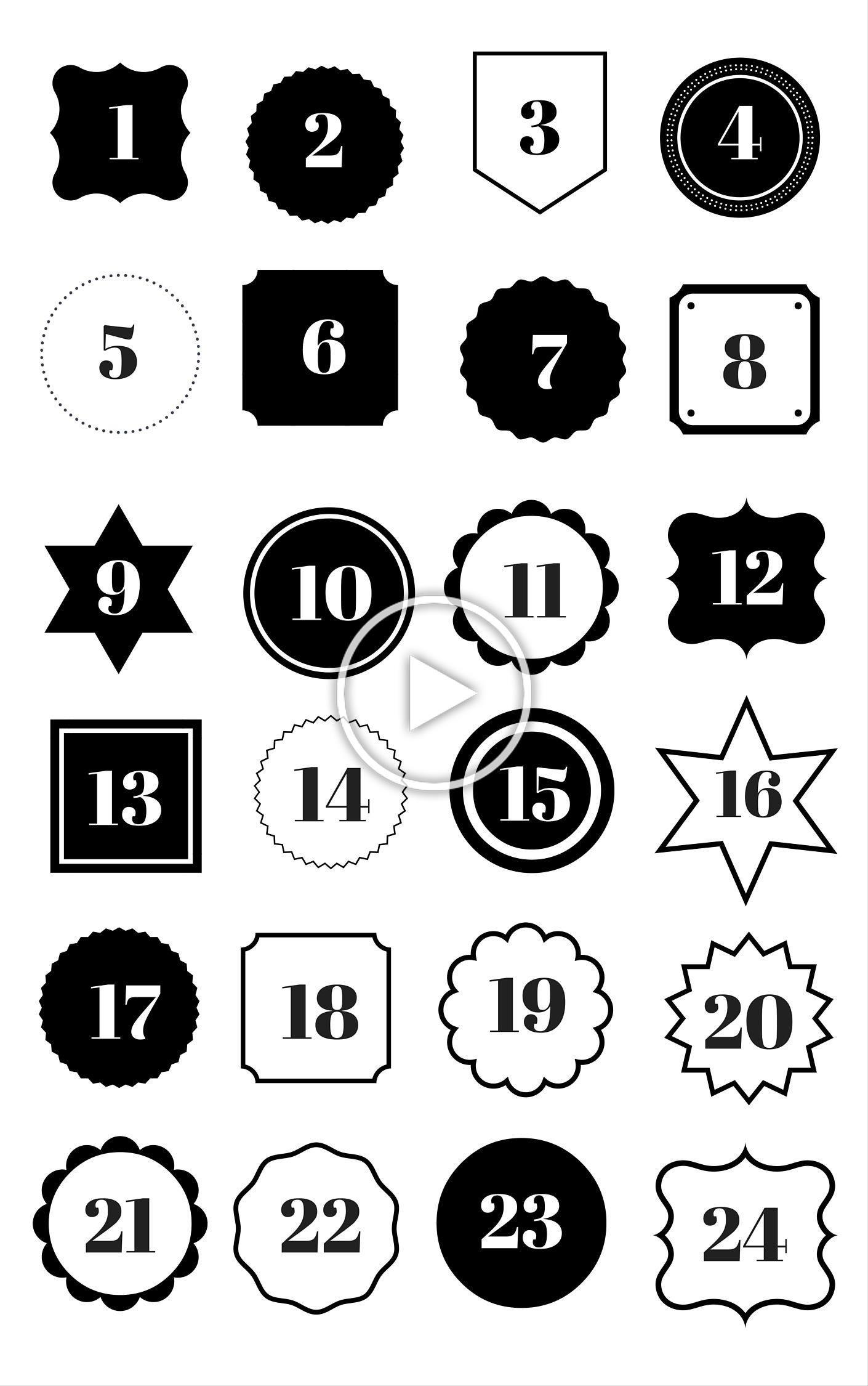 Countdown Adventskalender Zahlen Zum Ausdrucken Kostenlose Vorlage Als Download In 2020 Printable Advent Calendar Diy Advent Calendar Advent Calenders