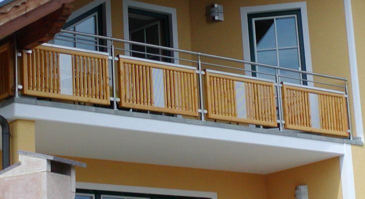 balkongeländer - edelstahl-holz | balkongeländer | pinterest, Moderne