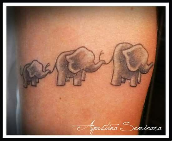 Uno de mis tattoos #tattoo #elephant #family
