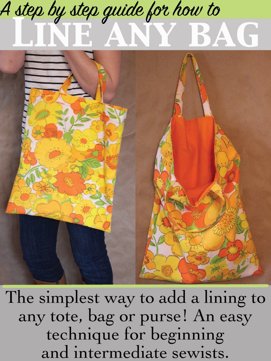 The Simplest Way To Line A Bag Of Any Kind So Sew Easy Sewing Purses Simple Bags Sewing Bag