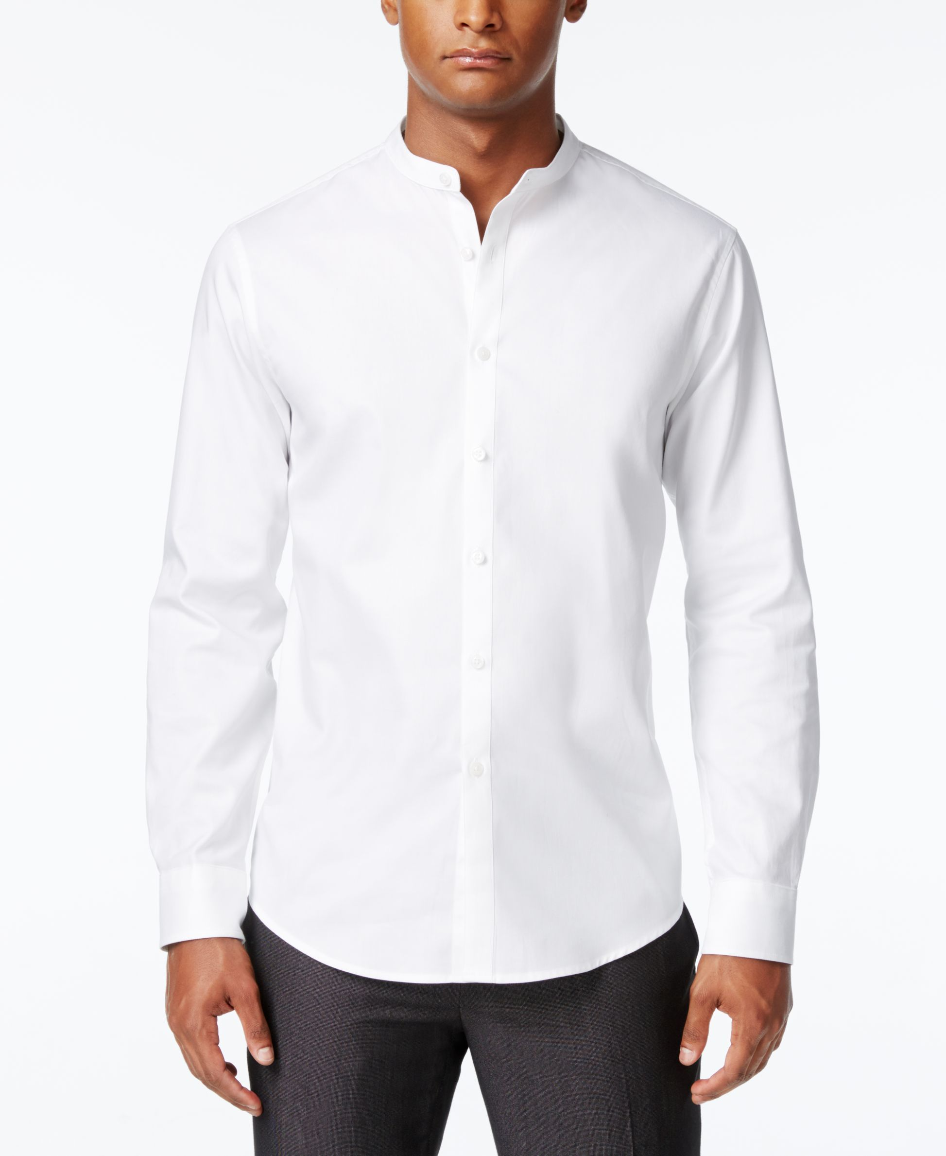 Inc International Concepts Mens Banded Collar Shirt Only At Macys