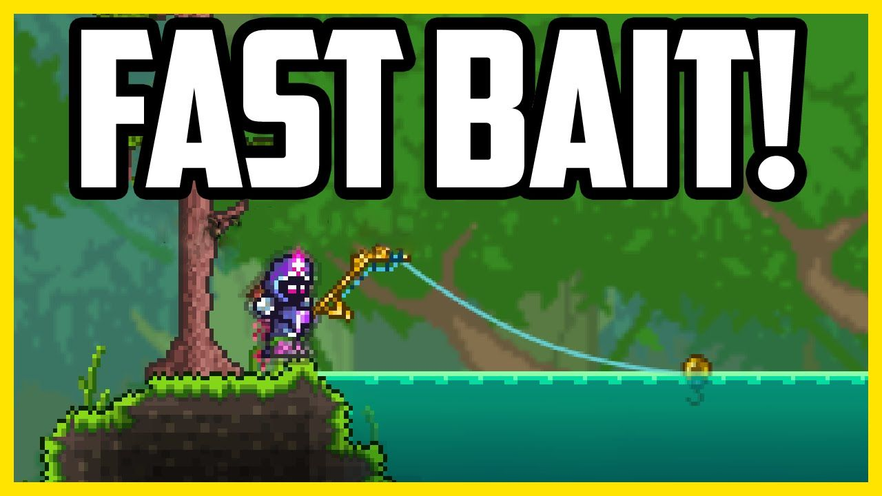 How To Get Bait in Terraria 1 3 EASY & FAST (AFK Bait Farm