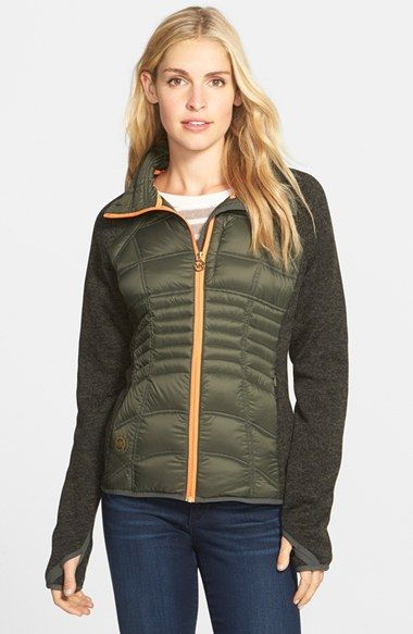 MICHAEL Michael Kors Down & Knit Jacket available at #Nordstrom