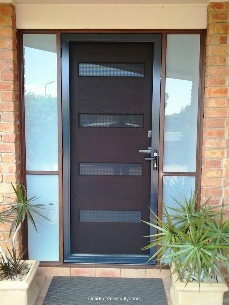 Clear breeze security door stainless steel mesh range for Metal security doors