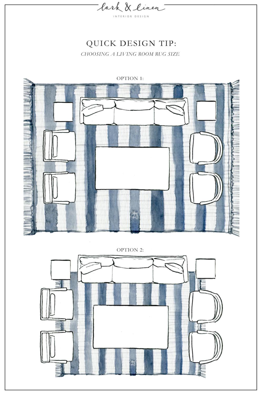 Quick Design Tip Choosing a Living Room Rug Size Living