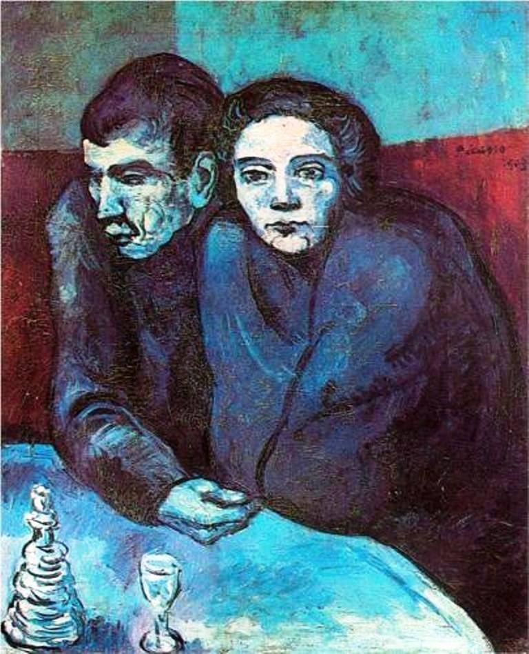 Pablo Picasso - Poor Couple in a Café, 1903 #arte