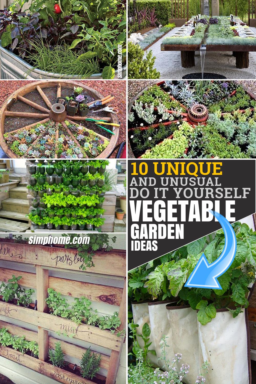 10 Unique and Unusual DIY Vegetable Garden Ideas ...