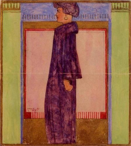 Egon Schiele - Standing Woman, 1908