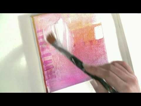 Painting with acryl malen lernen mit acryl thema collage und transfertechnik auf leinwand - Malen mit acryl auf leinwand ...