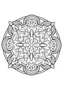 Mandala From Free Coloring Book For Adults 23 Coloring Coloriage
