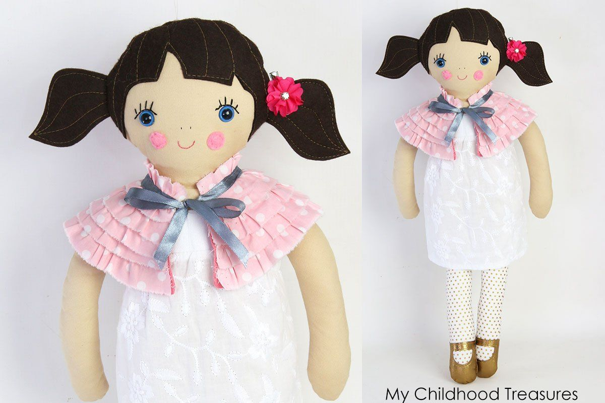 FREE doll clothes patterns - 18 inch doll clothes Tutorial CAPE #18inchdollsandclothes