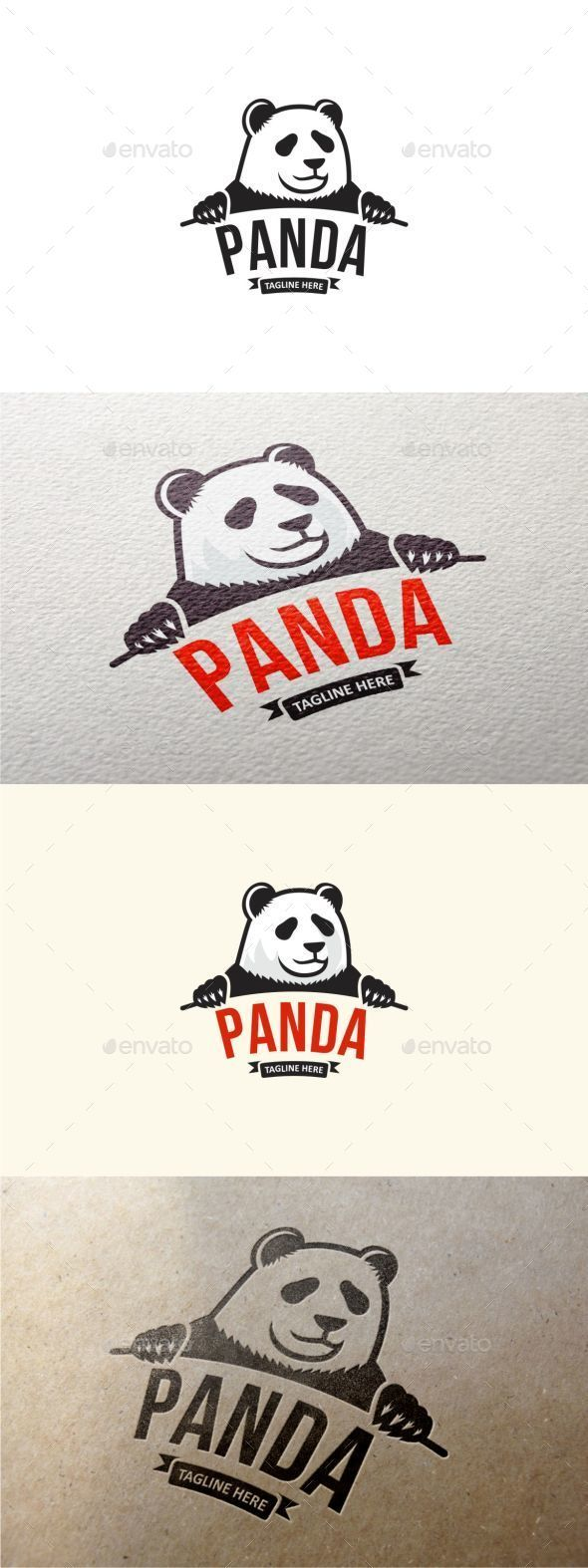 Panda Logo Template Logo templates, Animal logo, Logo