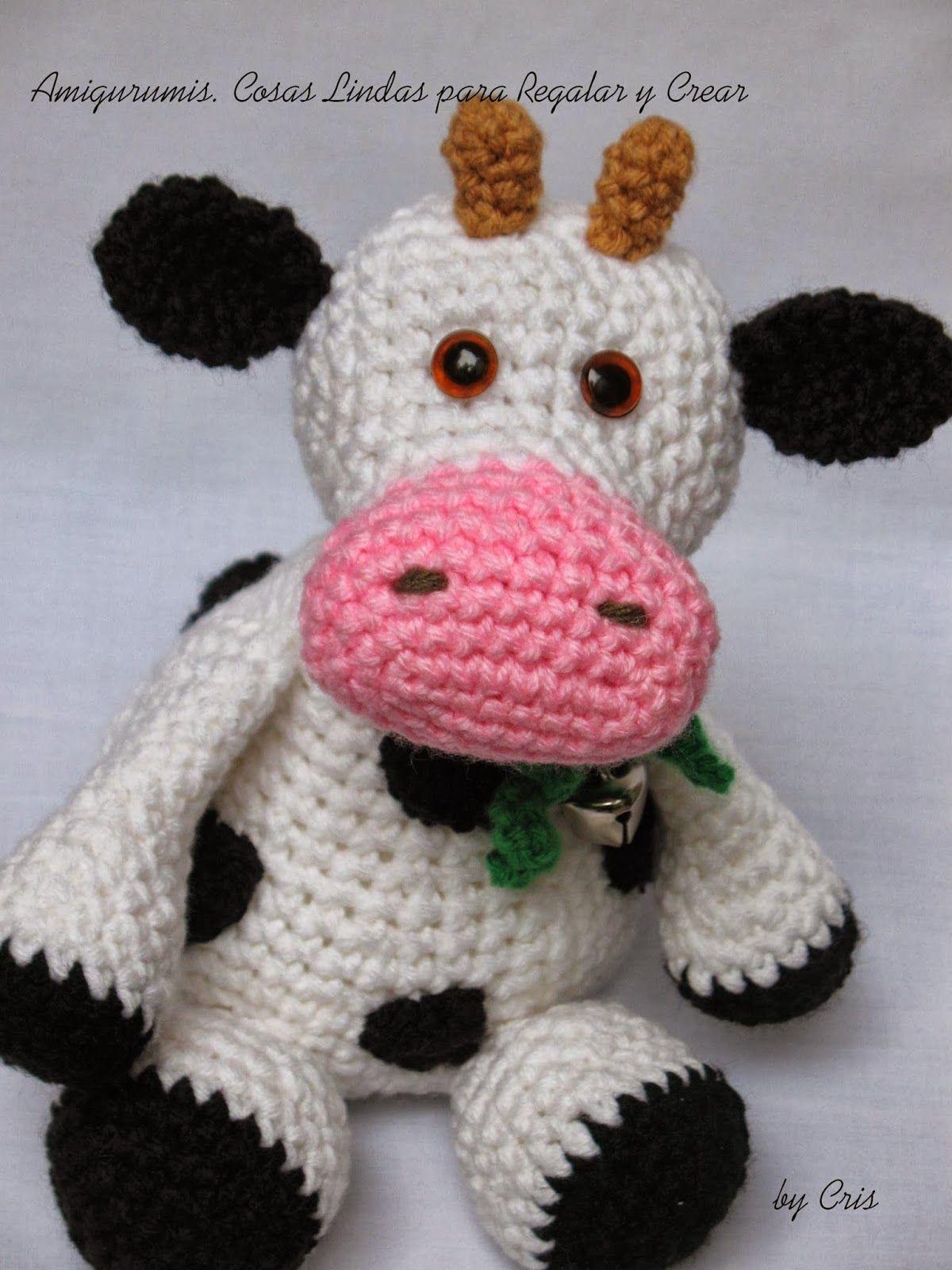 Vaca Margarita Amigurumi - Patrón Gratis en Español | amigorumis ...