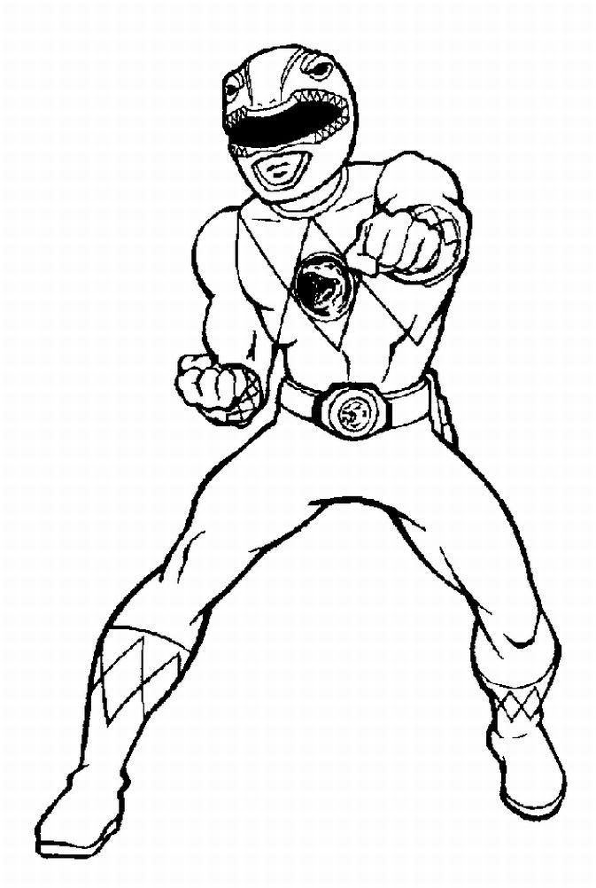 Red Power Ranger Coloring Page Power Rangers Coloring Pages