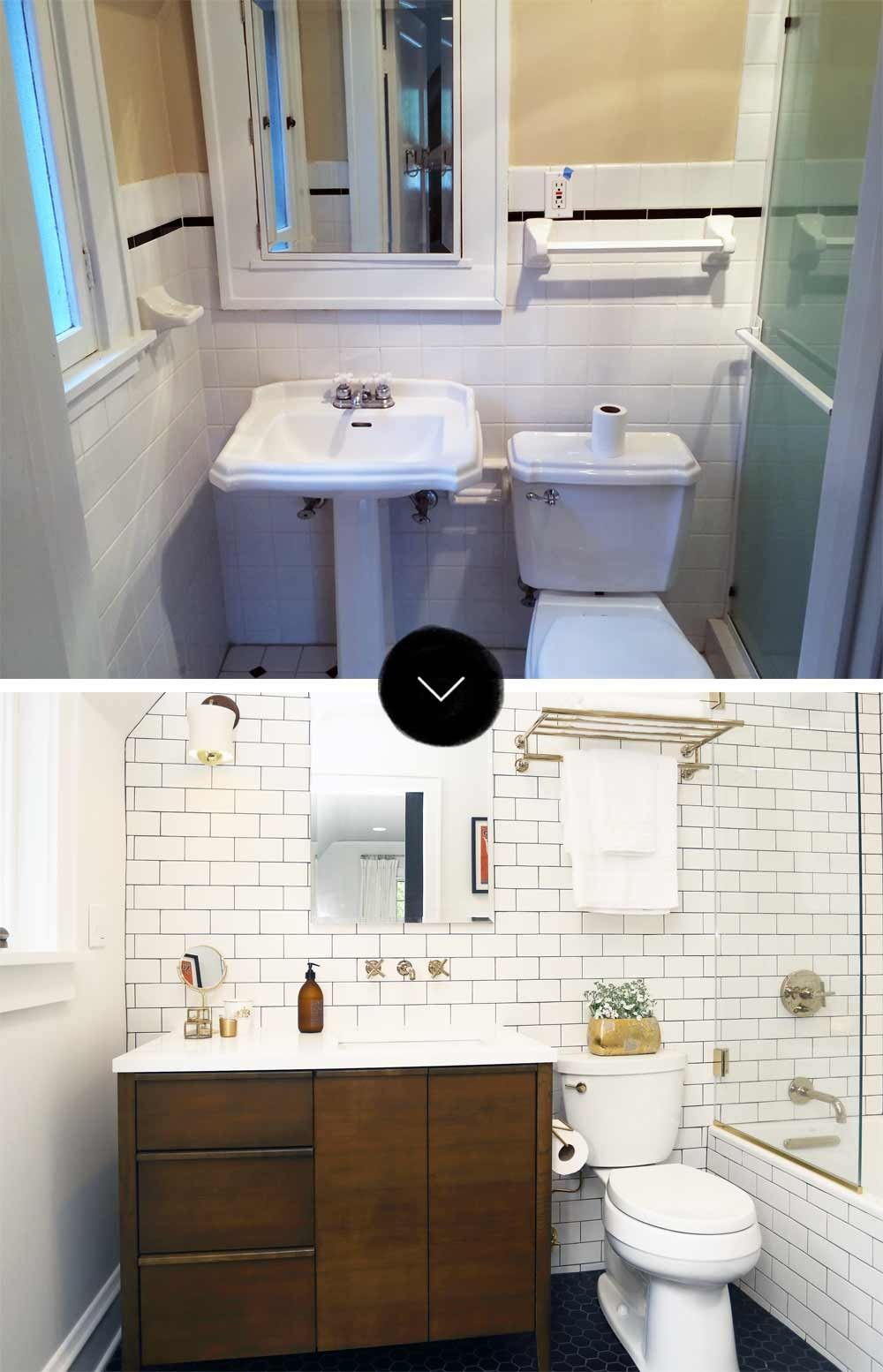 Before After A Light And Bright Tudor Remodel Old Home Remodel Home Remodeling Bathrooms Remodel