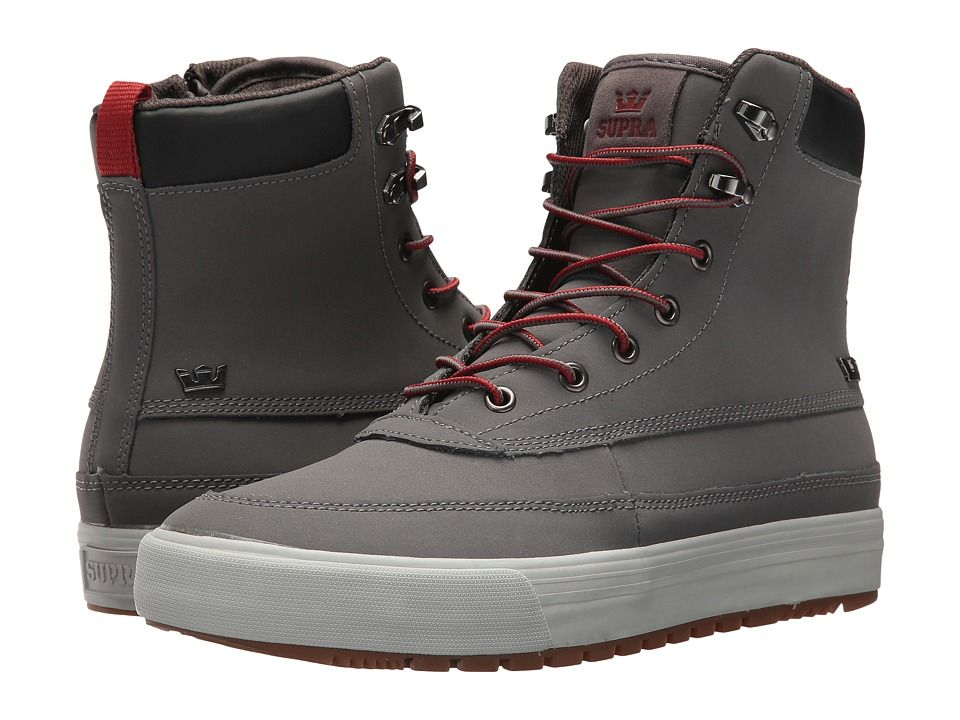 38e95ae098b1 Supra Oakwood Men s Lace-up Boots Charcoal Gunmetal Light Grey ...