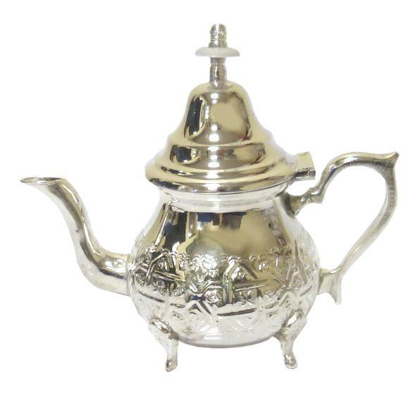 petite th i re marocaine traditionnelle en m tal argent cisel objet de d coration id e. Black Bedroom Furniture Sets. Home Design Ideas