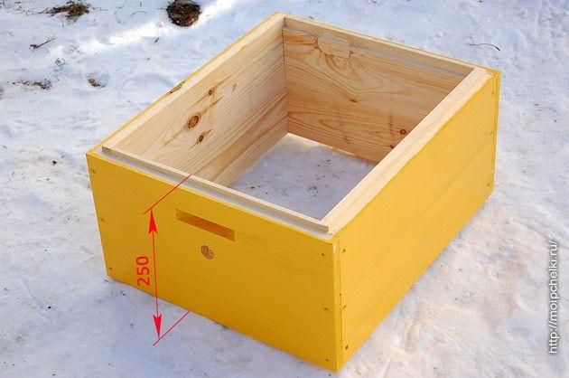 Корпус улья под рамку на 230 мм Пчеловодство Улей и