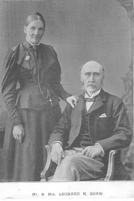 Portrait of Mr and Mrs Shaw c.1890 - Behind every great man...