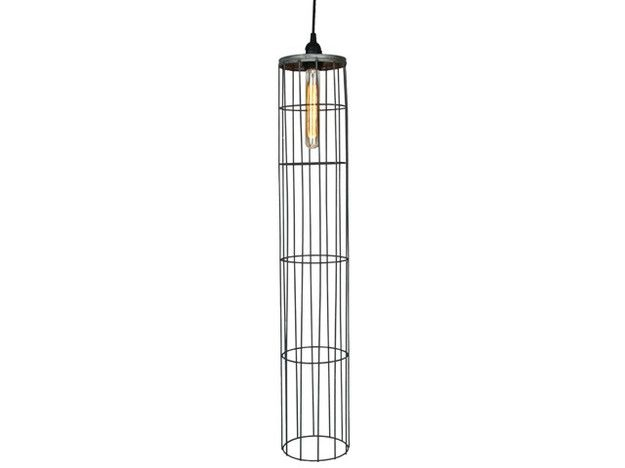 Vintage Repuposed Tall Wire Cage Pendant Light - Relique ($100-200) - Svpply