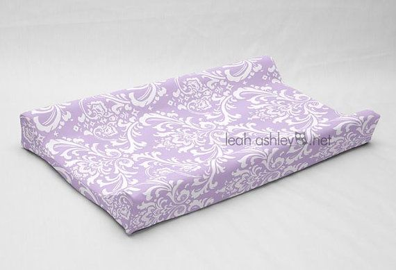 Contour Changing Pad Cover Lavender White Large By