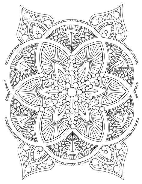 Abstract mandala adult coloring page digital by leetowledesigns also best mandalas images in desenhar livro de colorir rh br pinterest