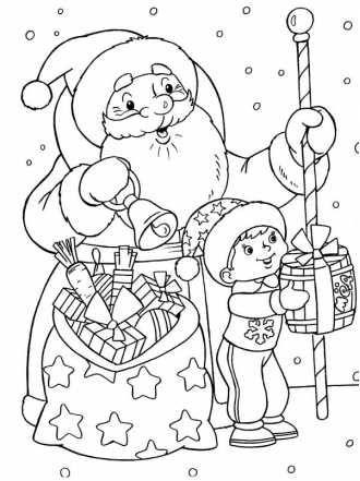 Раскраски Новый год бесплатно распечатать или скачать для ...