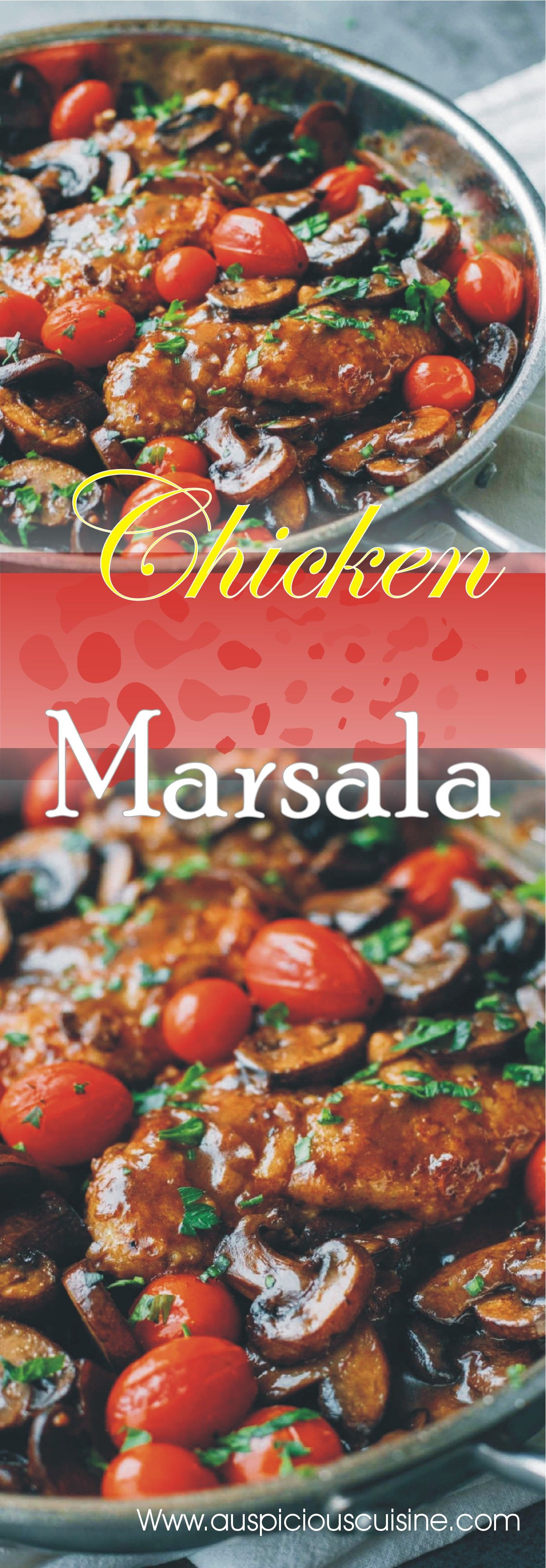 Chicken Marsala Recipe Baked Whole Chicken Recipes Food Recipes Chicken Recipes