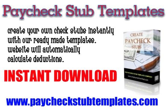 Paycheck Stub Templates are simple and easy to use No software - check stub template
