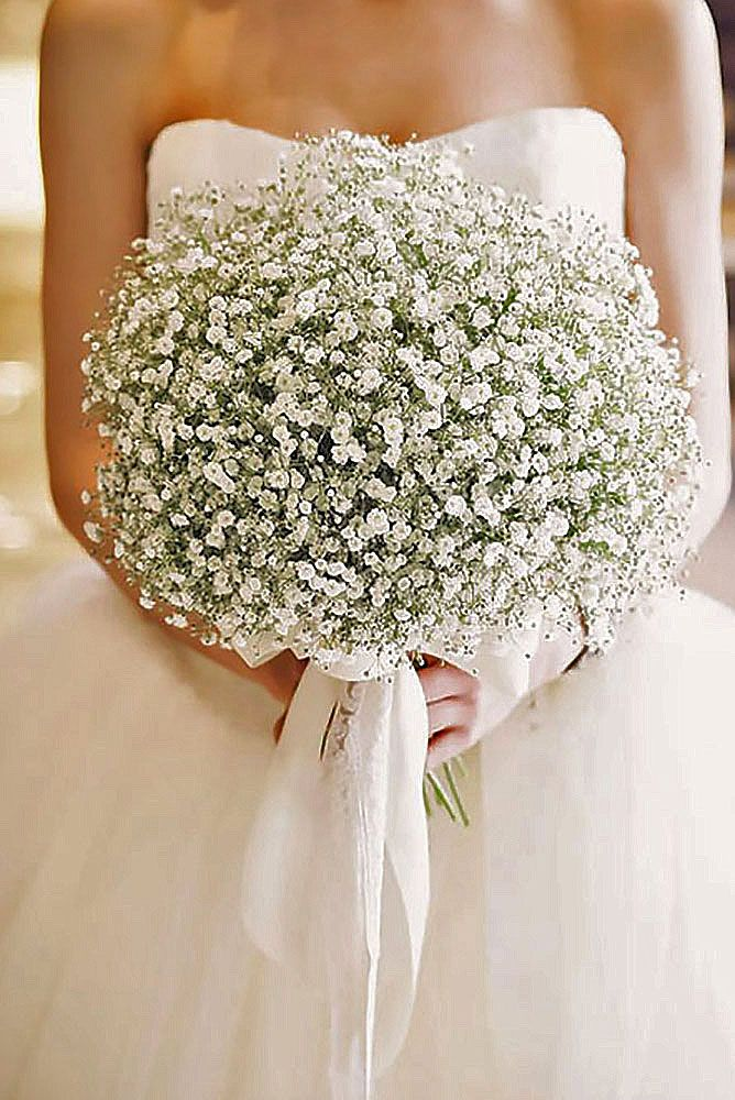 How Long Should Bridal Bouquet Stems Be : Stylish single bloom wedding bouquets babies