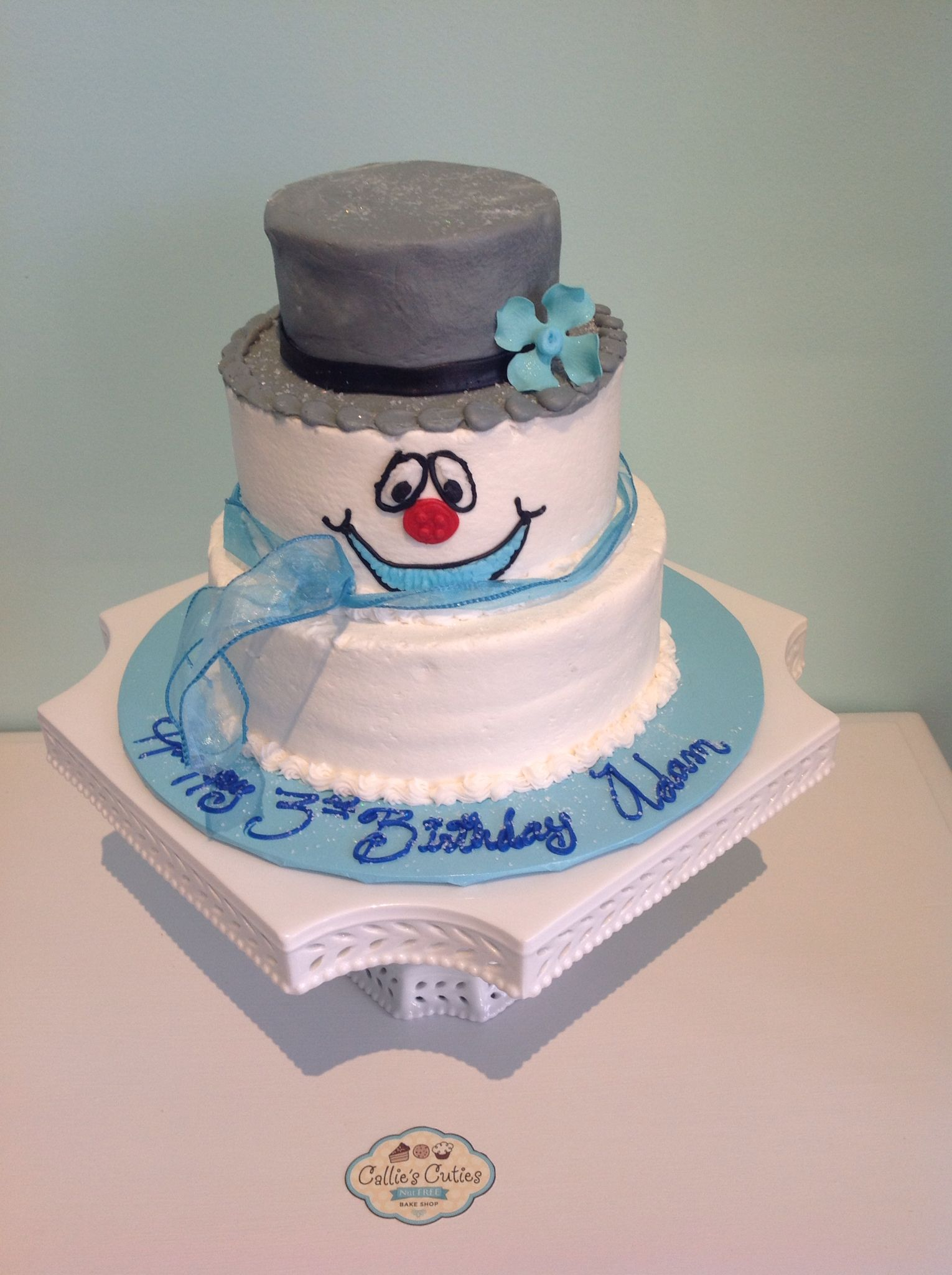 Frosty The Snowman Birthday Cake Nutfree By Callies Cuties