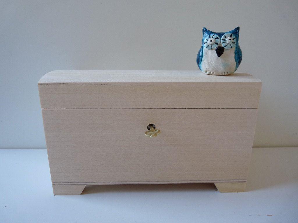 Wooden Unpainted Unfinished Jewelry Treasure Box With Key Lock Wood Decoupage Secret Box Unfinished Wood Box With Key Wooden Boxes Unfinished Wood Boxes Wooden Boxes Wood Boxes