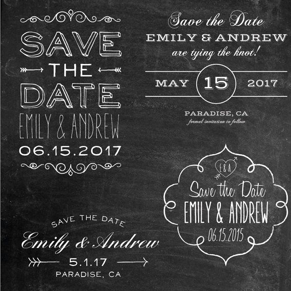 Photoshop Clipart Overlay  Save The Date  Wedding Overlays