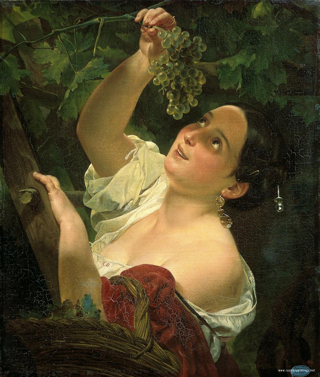Italian Midday (1827) by Karl Bryullov (Russian, 1799 - 1842)