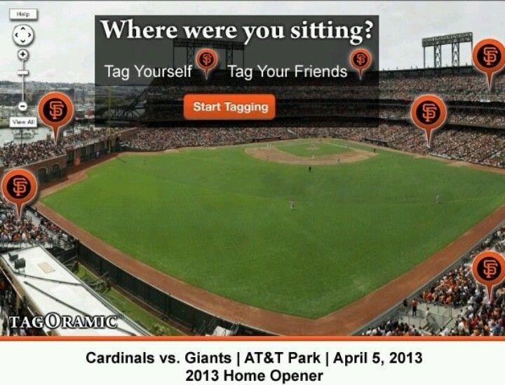 Start Tagging Yourself San Fransico Giants Baseball Field San