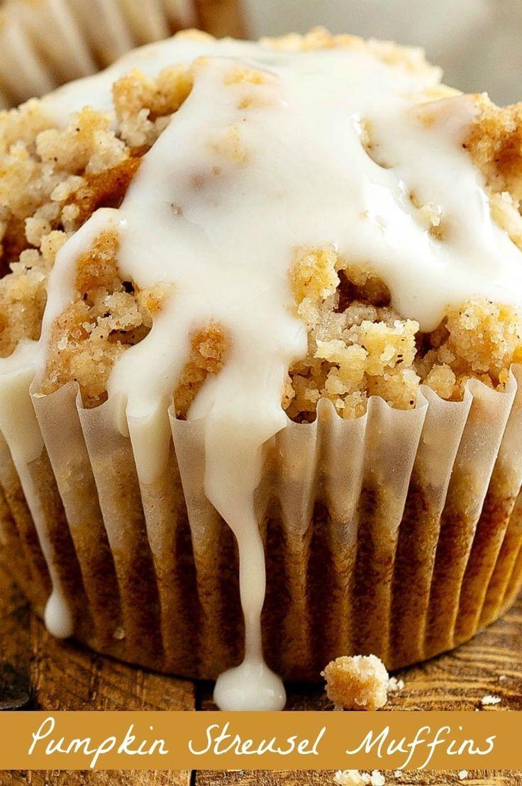 Pumpkin Muffins with Streusel #pumpkinmuffins