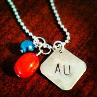 Hand Stamped Auburn University Necklace