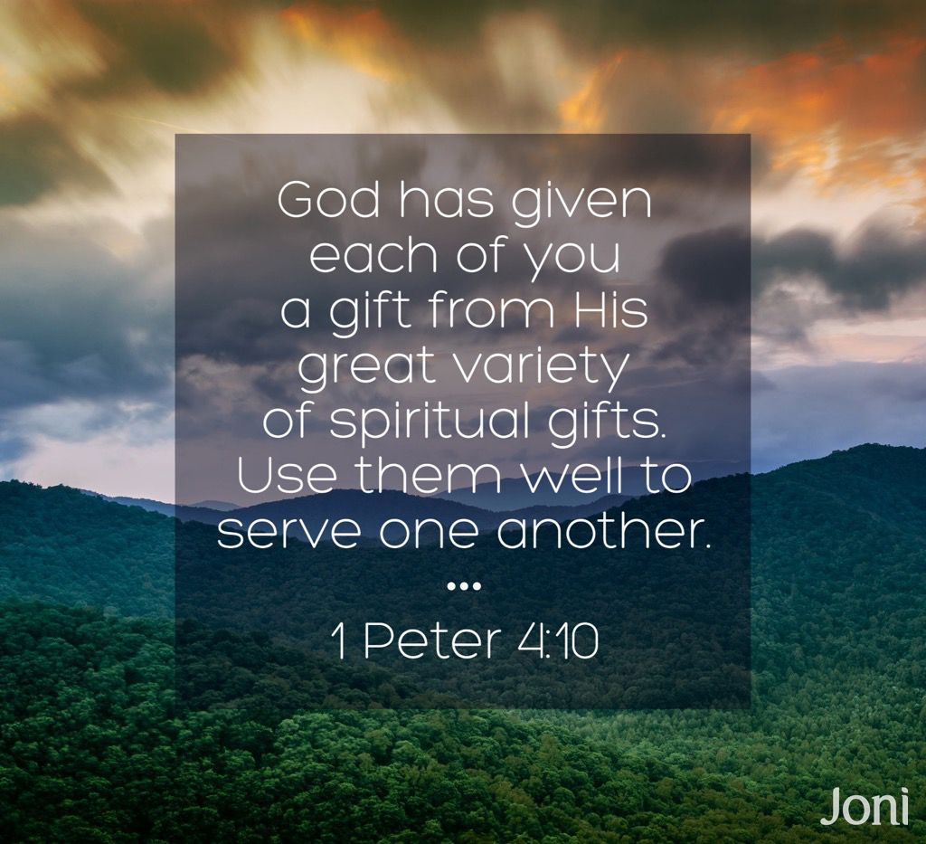 God has given each of you a gift from his great variety of scriptures god has given each of you a gift from his great variety of spiritual gifts negle Images